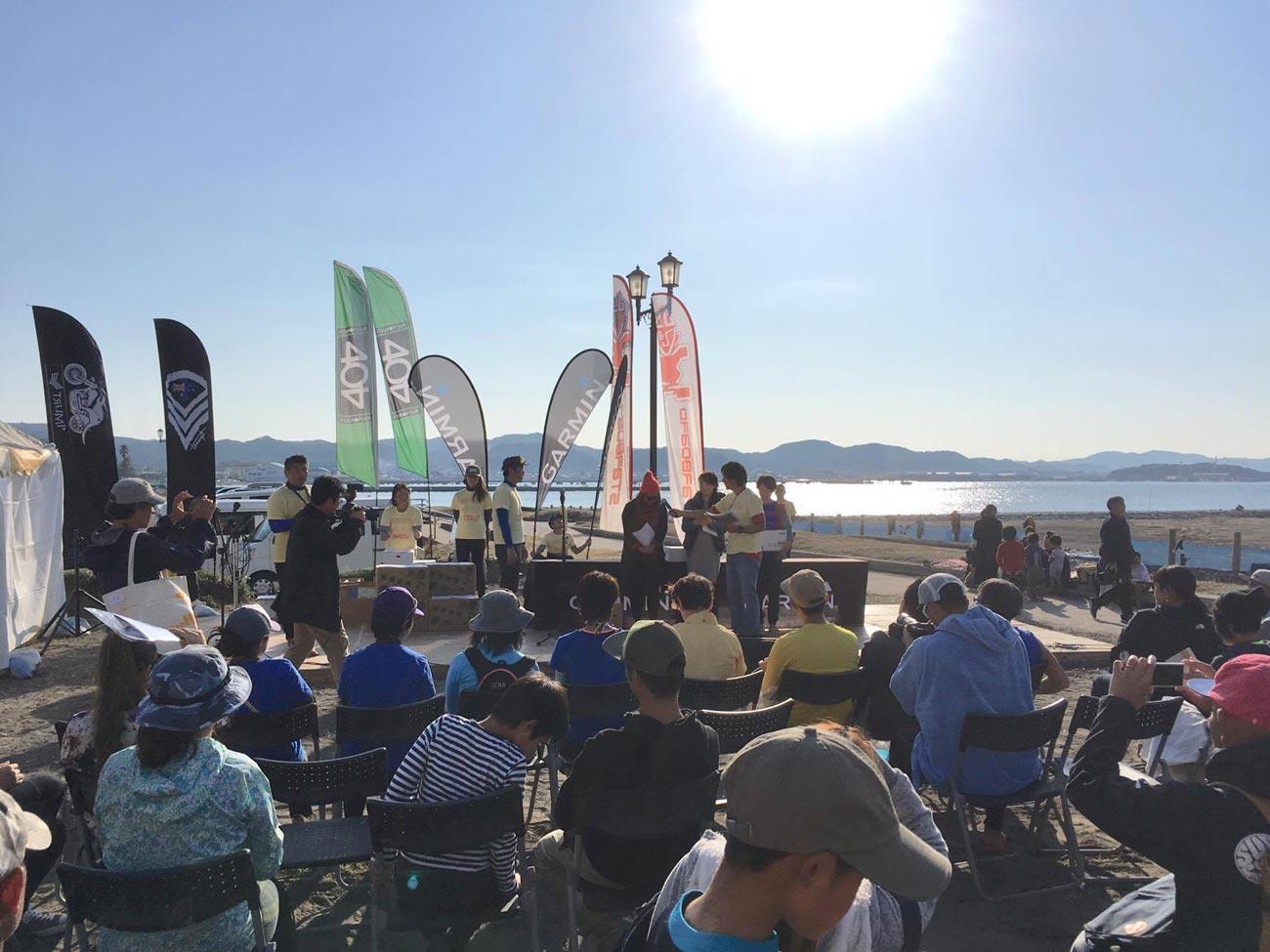 北条海岸BEACHマーケット SUPレース表彰式