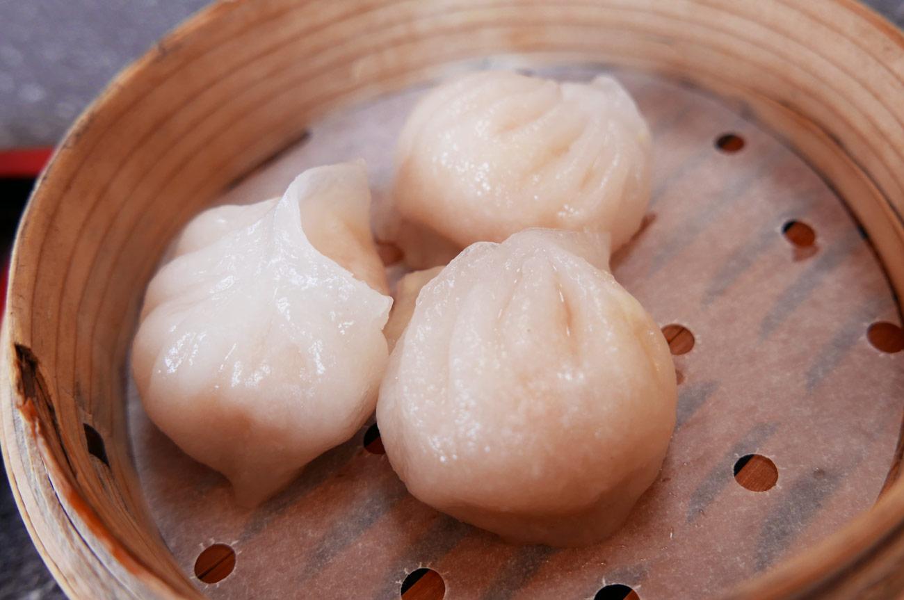 味華の透明皮のエビ餃子の画像