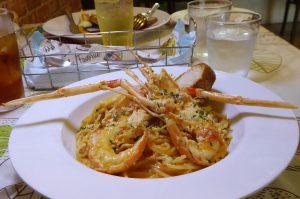 ビストロ アンの手長エビのトマトクリームスパゲティの画像