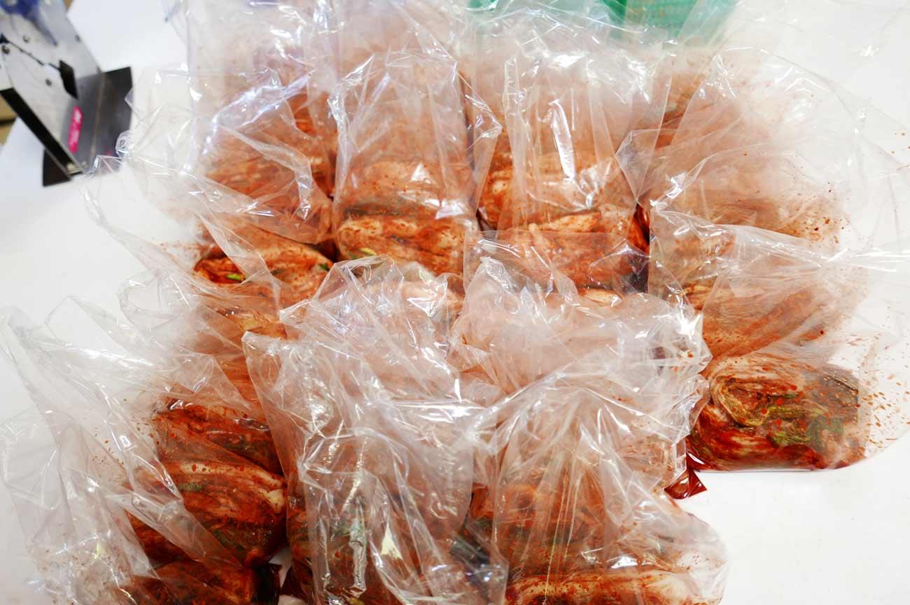 白菜キムチの完成品の画像