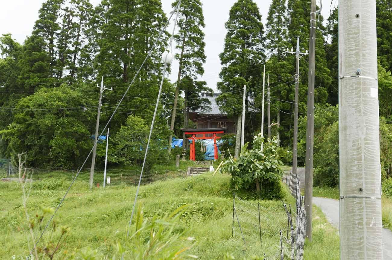 八幡神社参道の画像