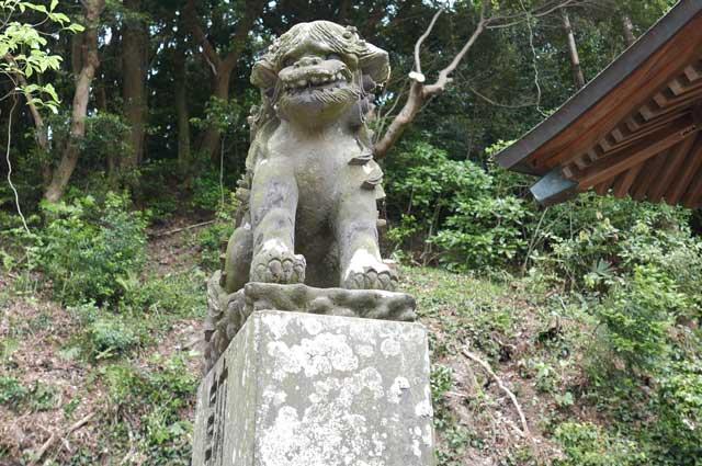 日枝神社狛犬(左)の画像