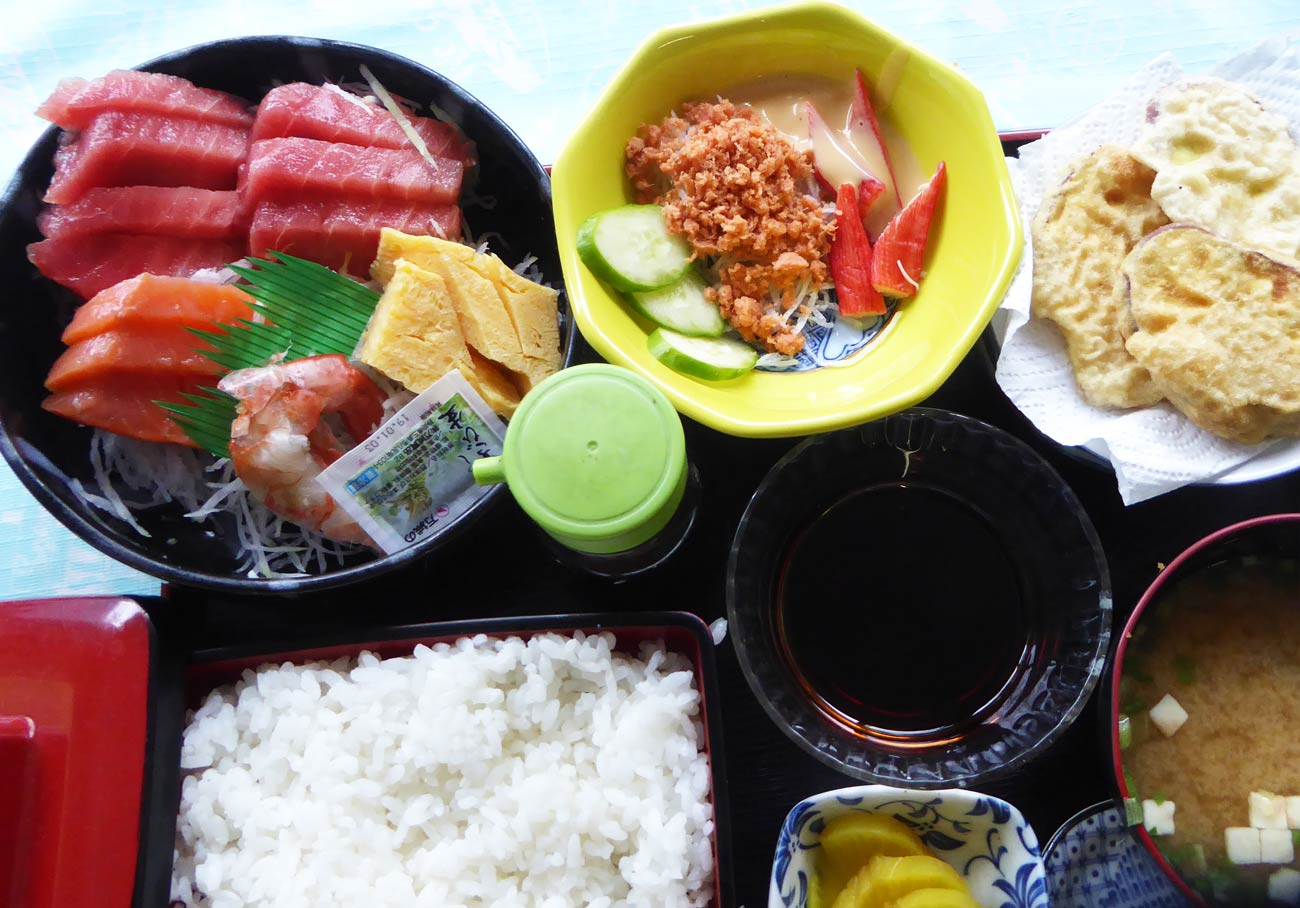 お刺身定食+天ぷら付の画像
