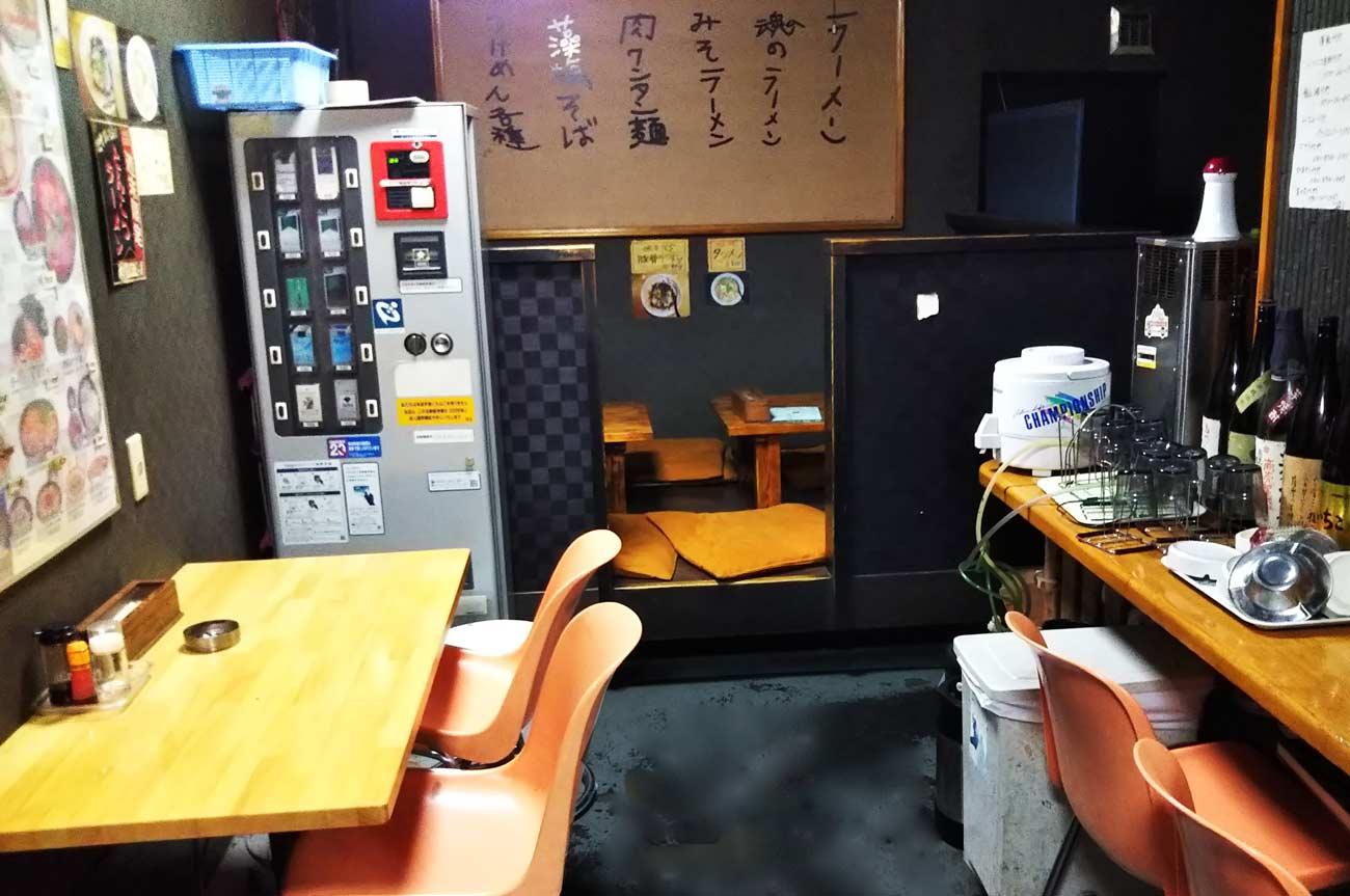 尾道ラーメン麺一筋の店内画像