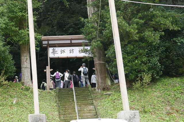 諏訪神社参道の画像