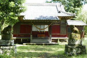 神明神社拝殿の画像