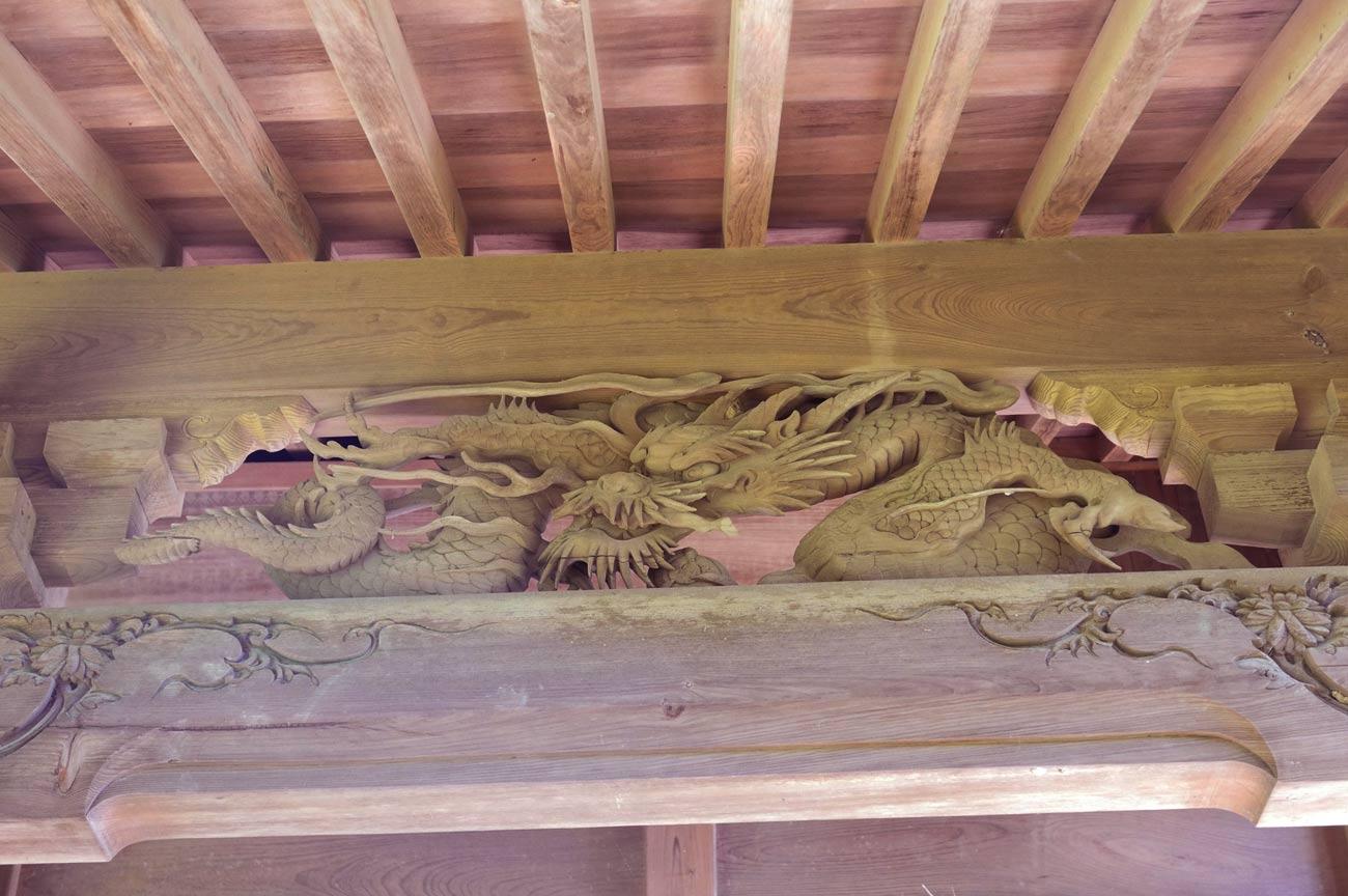 5代目伊八の龍の彫刻の画像