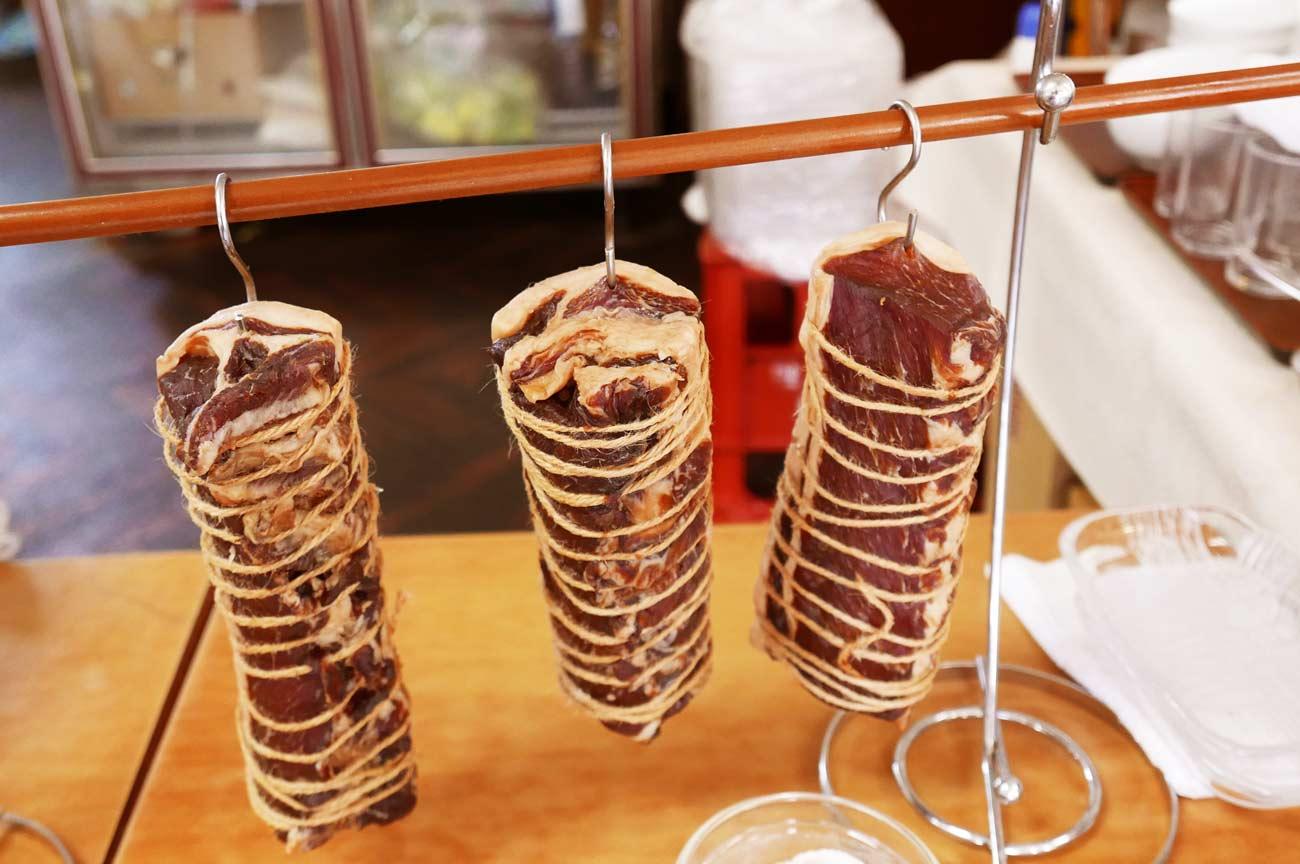 豚肉の燻製の画像