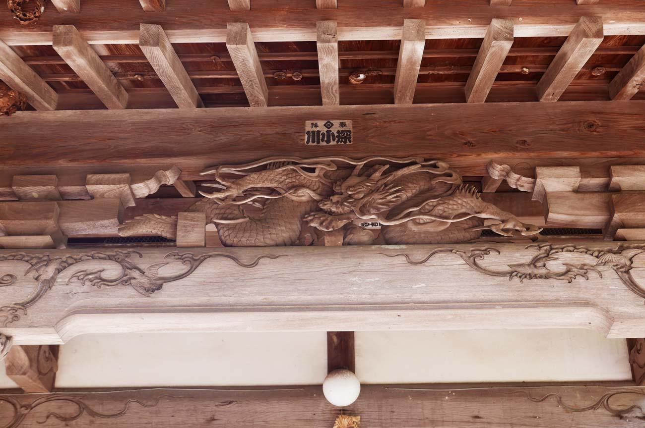 五代目伊八の龍の彫刻の画像