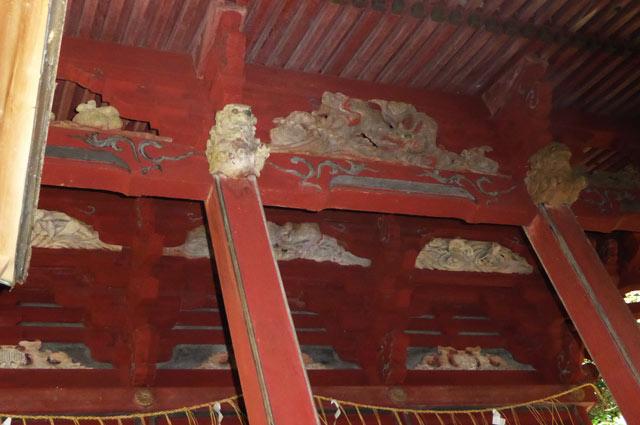 洲崎神社本殿の彫刻の画像