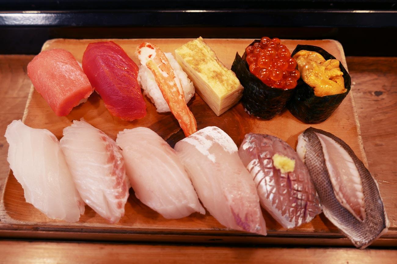 巴寿司の地魚寿司の画像