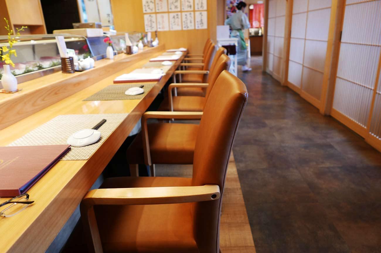 館山旬鮨・海の花のカウンター席の画像