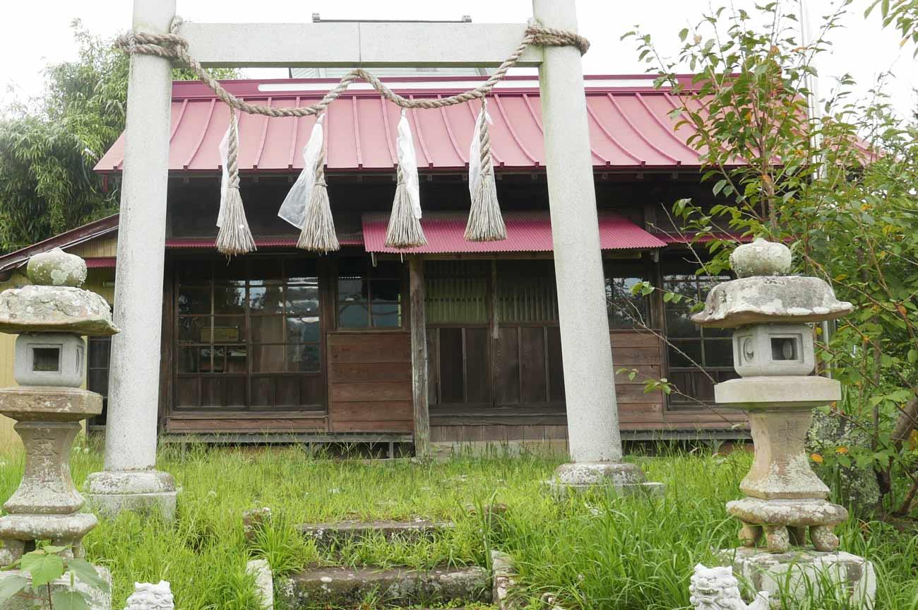 日枝神社の拝殿の画像