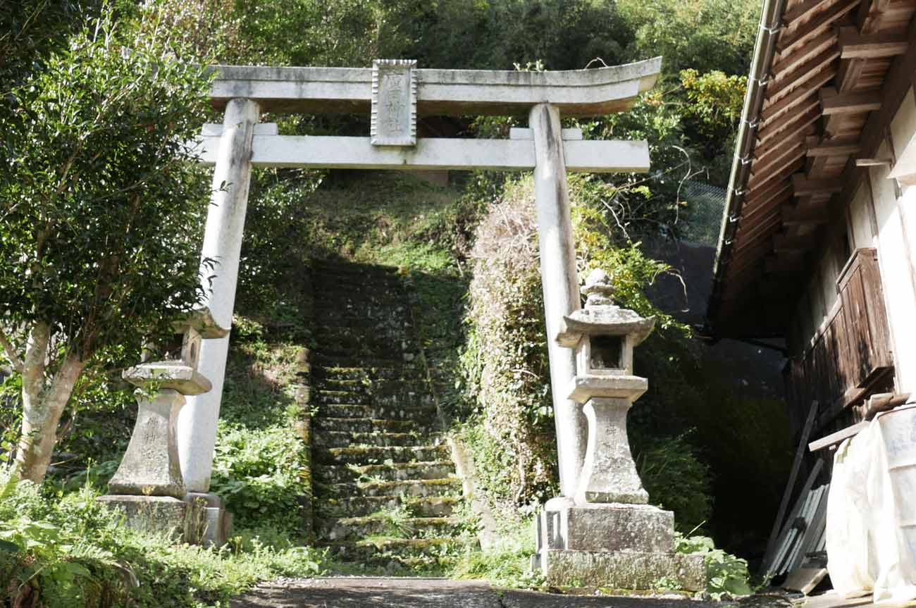 廣田神社の鳥居と参道の画像