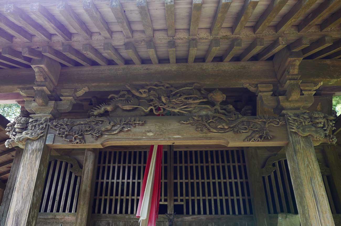 後藤次郎橘治光の龍の彫刻画像