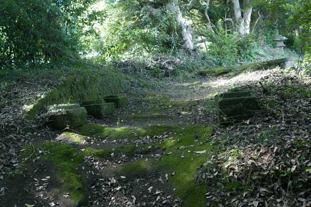 参道の鳥居の跡の画像