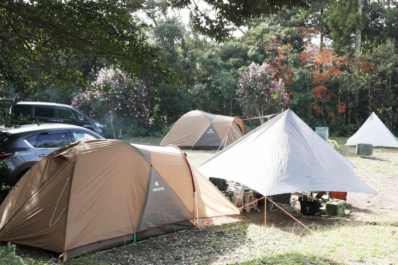 車横付けのキャンプ区画