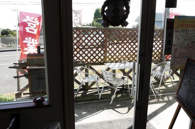 ライバックのテラス席の画像