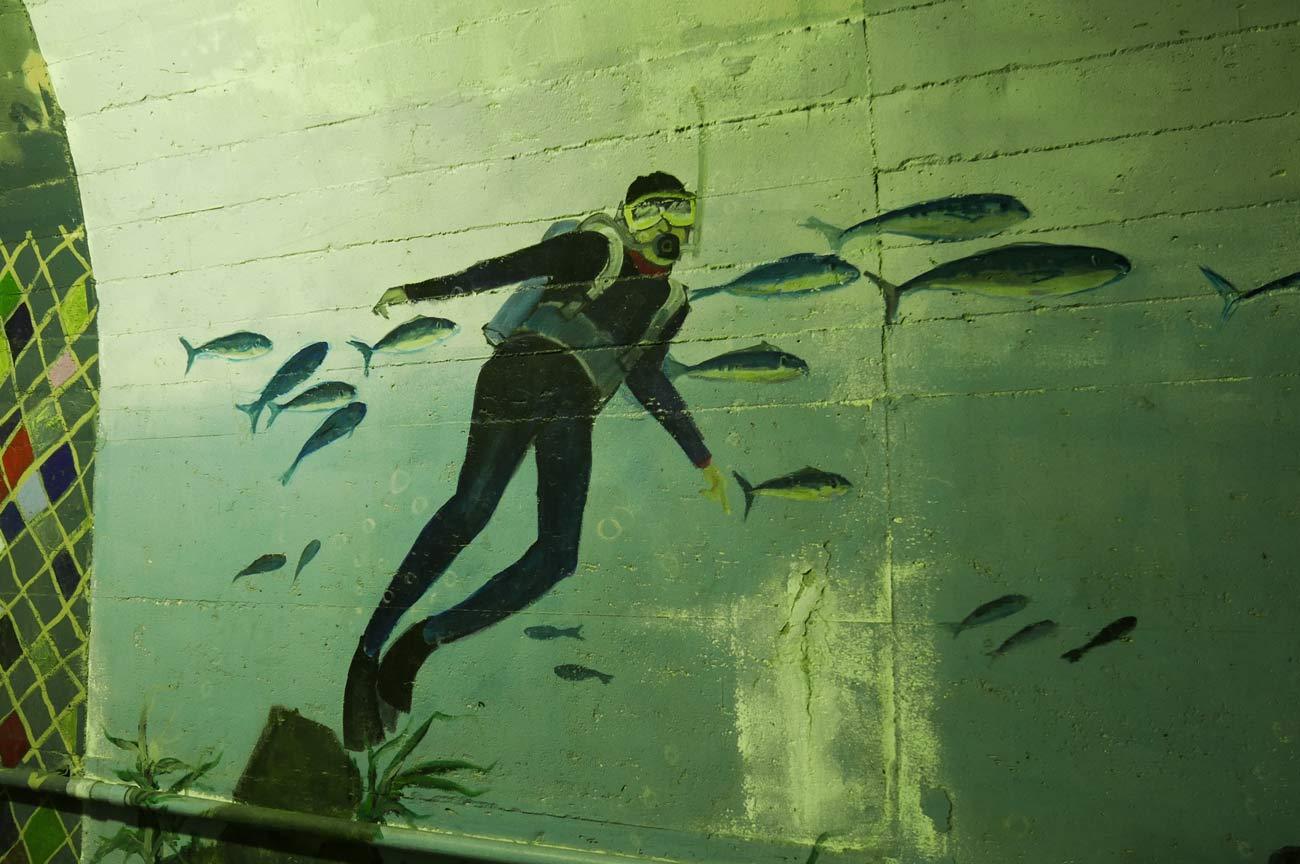 アクアラングの壁画