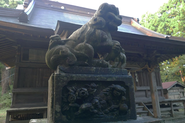 横山神社の狛犬(左)の画像