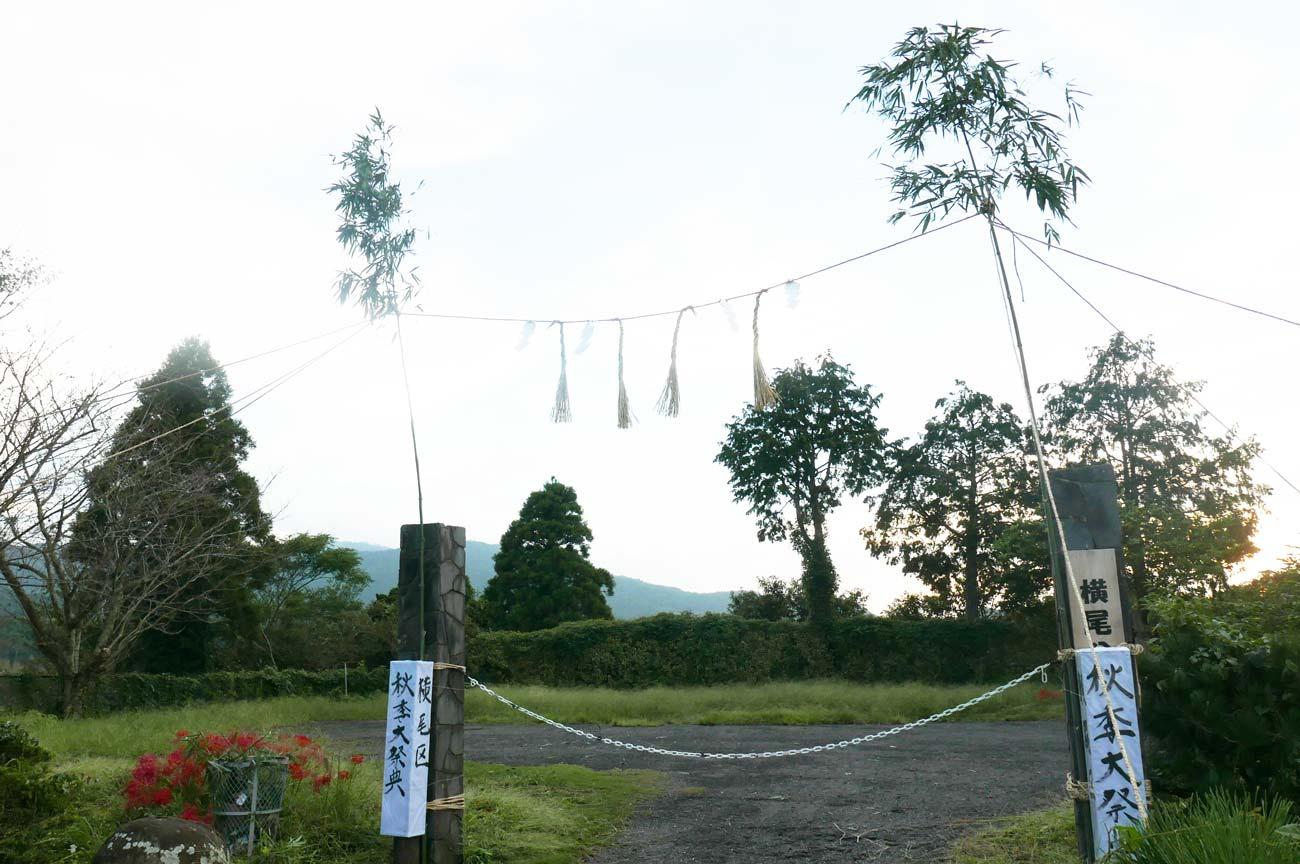 横尾地区秋季大祭の飾りの画像