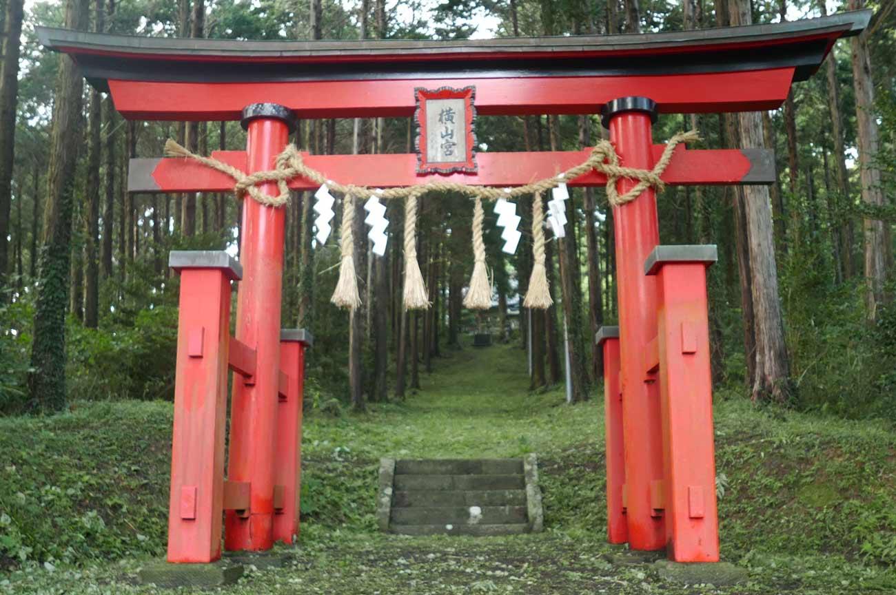 横山神社の鳥居の画像