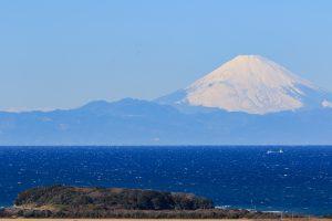冬の富士山 館山湾寒中水泳大会
