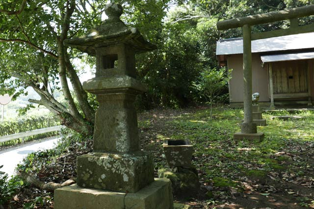 日枝神社の常夜灯(左)の画像