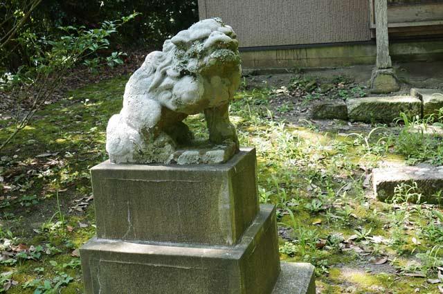 日枝神社の狛犬(左)の画像