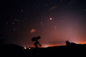 天文観測の様子