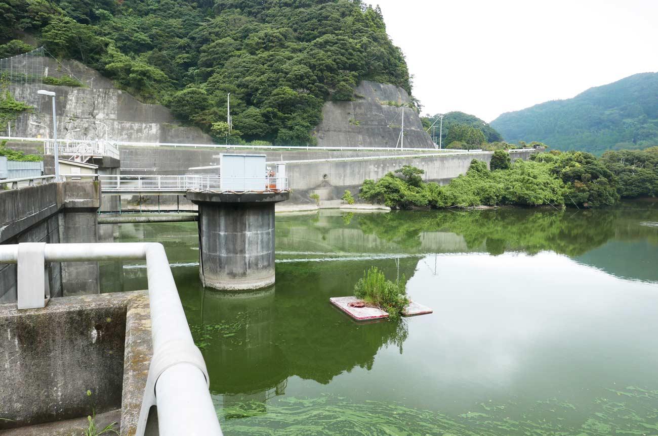 小向ダムのダム壁の画像