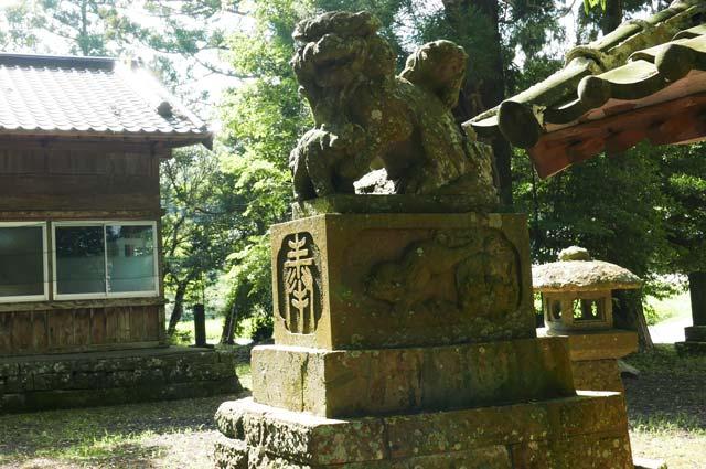 西神社の狛犬(右)の画像