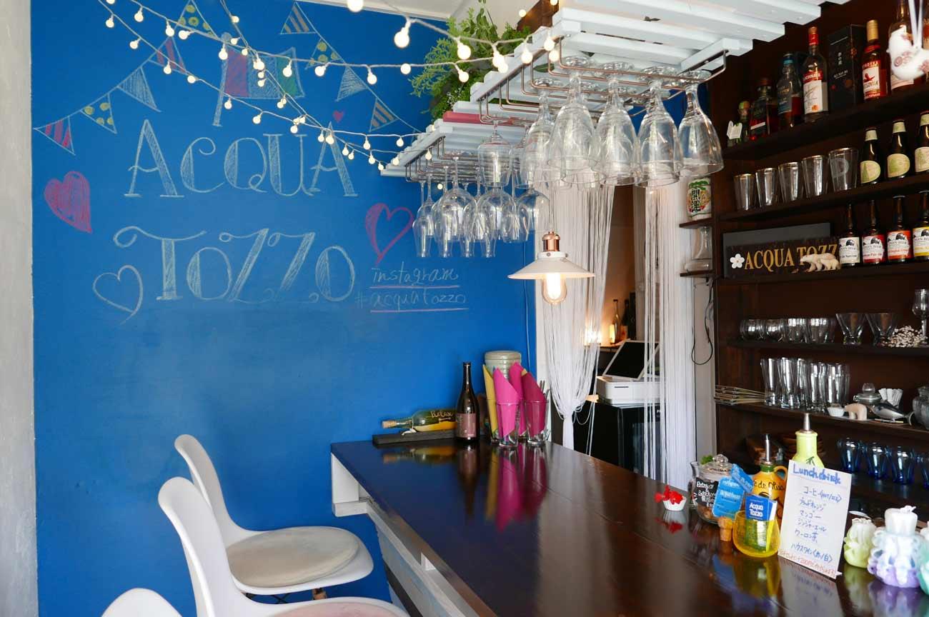 Acqa Tozzo店内の画像