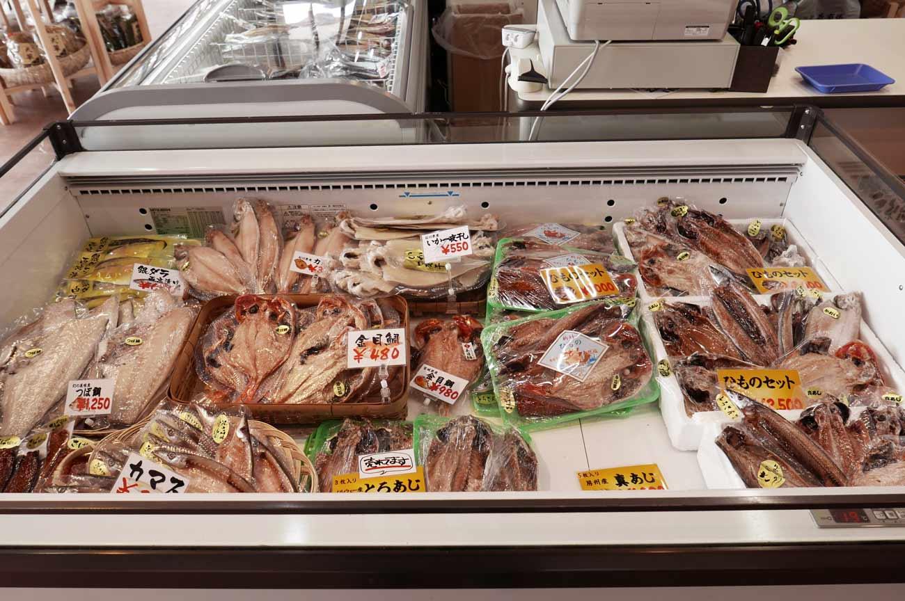 つぼ鯛、カマス、干物セットの画像