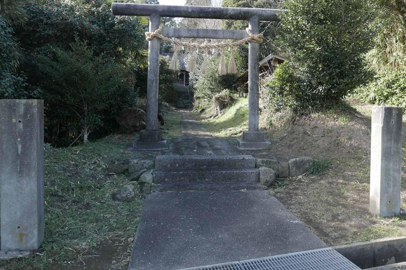 熊野神社の鳥居の画像
