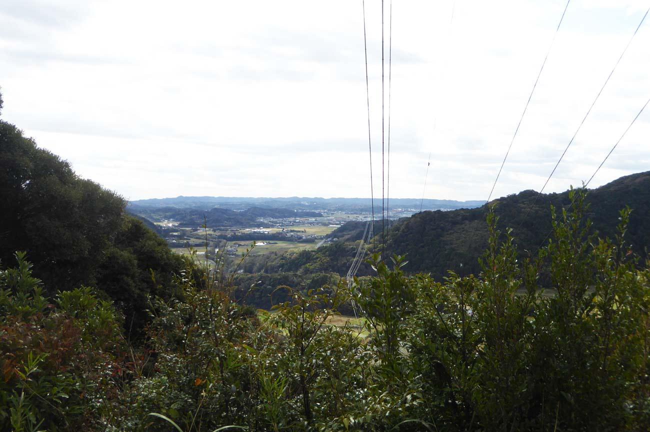 滝田城址の櫓台からの眺め