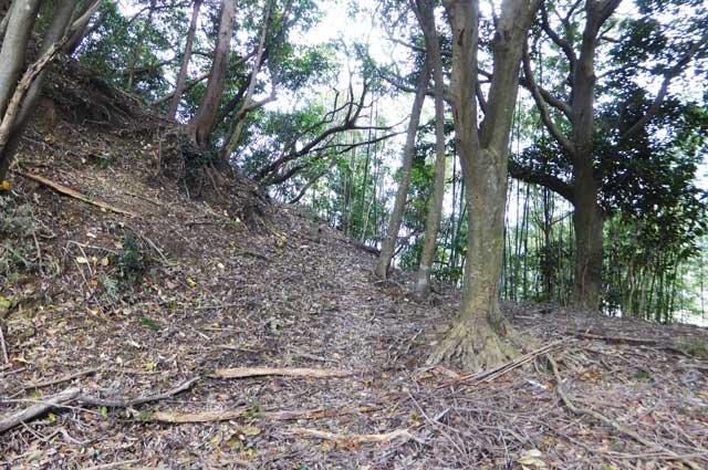 滝田城址入口の画像