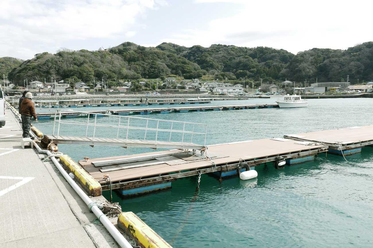 港内の浮き橋のポイント