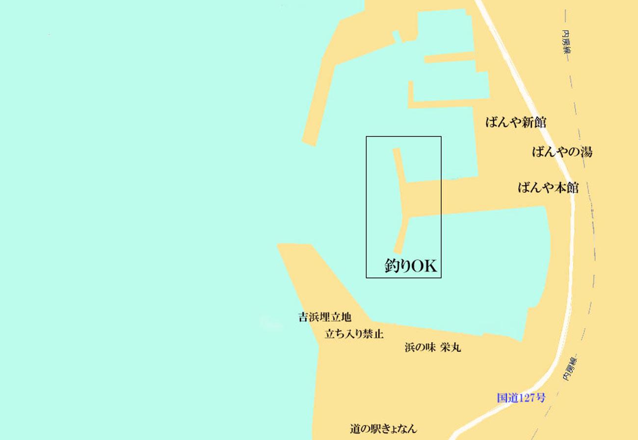 保田港の案内図