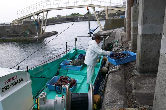 帰港した漁船の画像