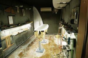 サーフボード工房内の画像