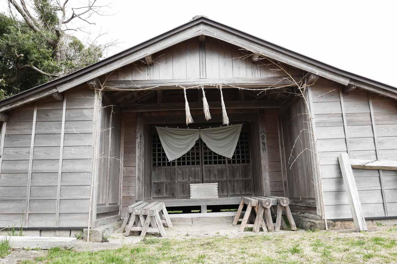 八雲神社本殿のアップ画像