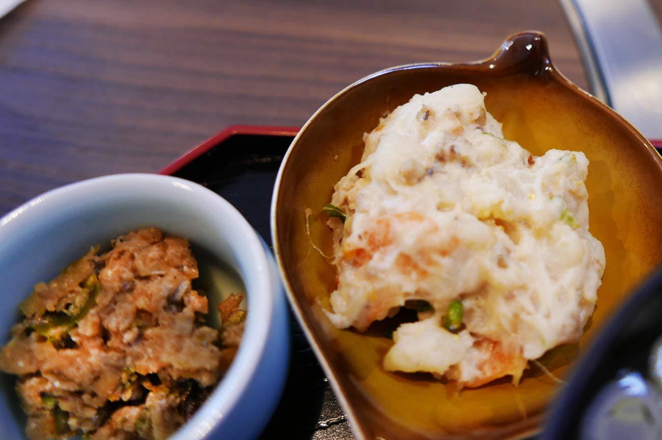 青唐さんが味噌、鯵のそぼろ入りポテトサラダの画像