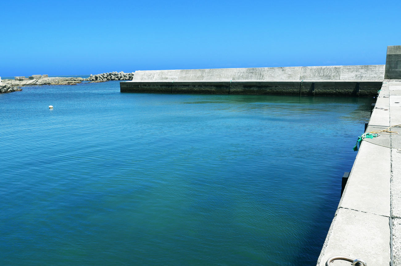 外側突堤の全景画像