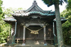 男金神社(おがなじんじゃ)三代目波の伊八の彫刻