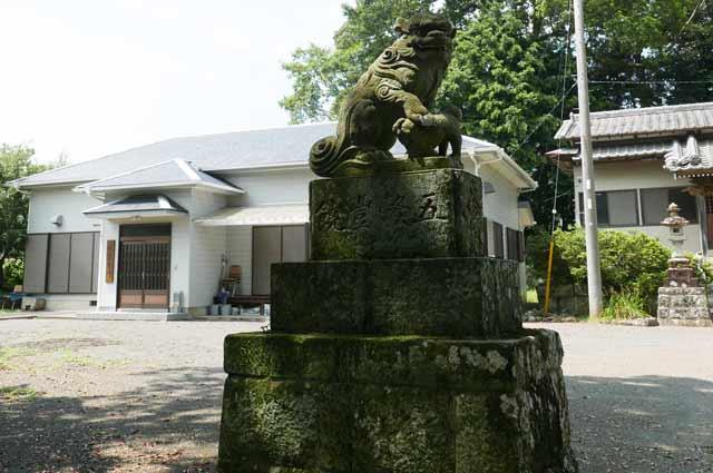 八雲神社の狛犬(左)の画像
