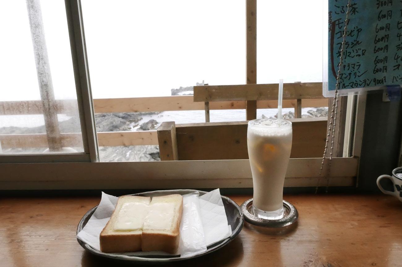 チーズトーストとミルクセーキ