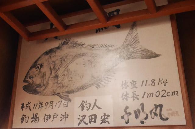 マダイの魚拓の画像