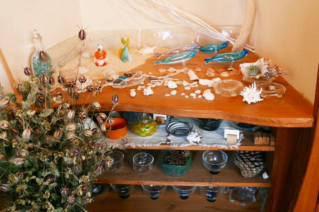 キシモトガラスのガラス細工