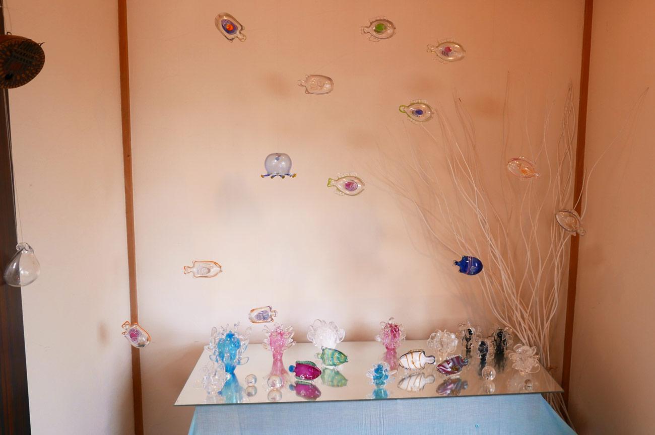 ガラス細工(海の中)の画像